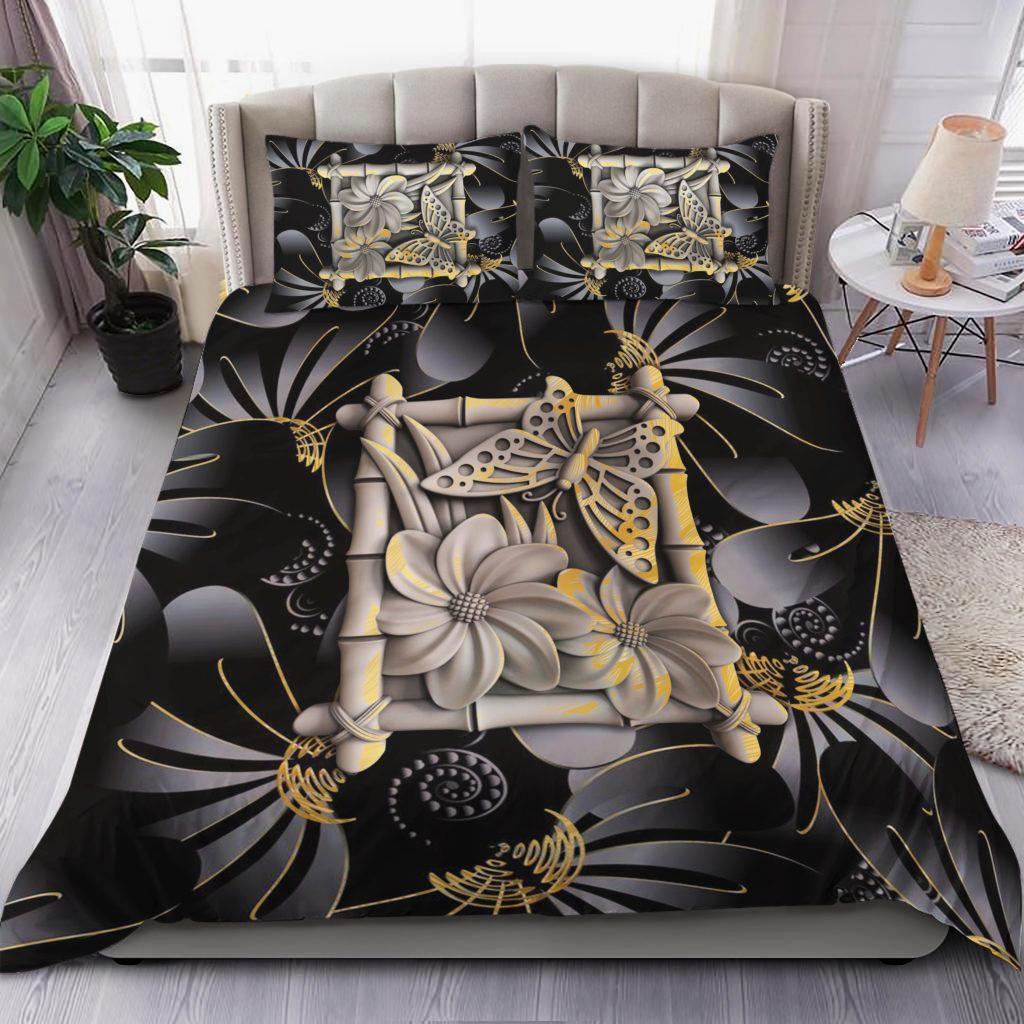 Buttefly And Flower Bedding Set Familyloves.com
