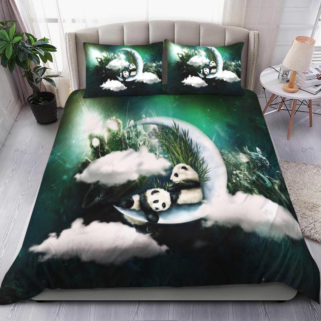 Panda Moon Bedding Set Familyloves.com