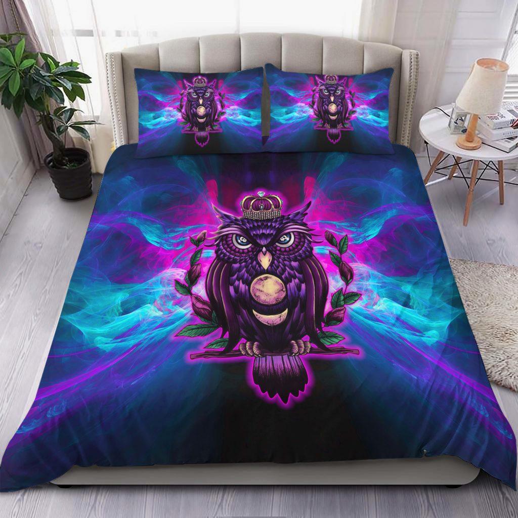 The Owl King Bedding Set Familyloves.com