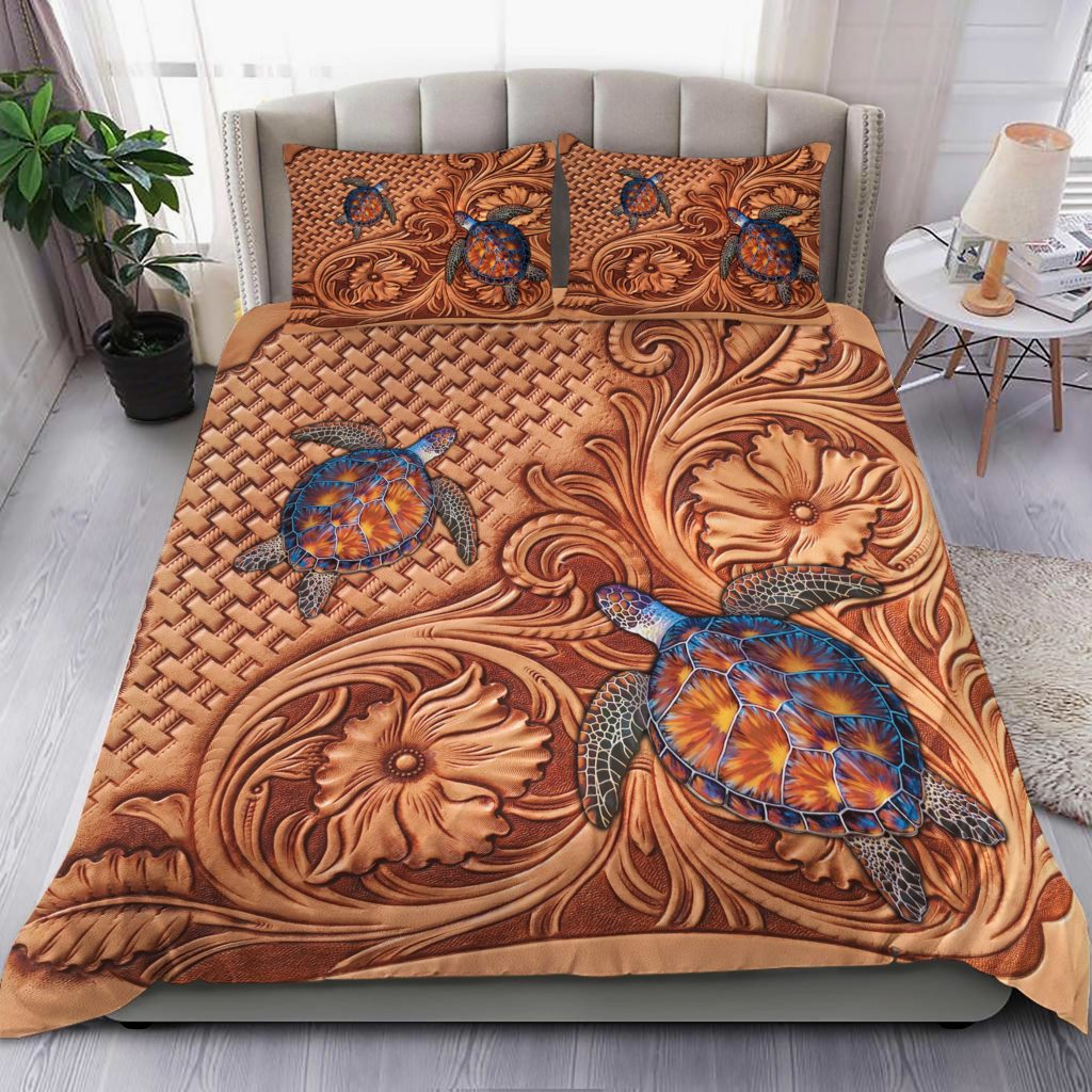 Turtles Quilt Bedding Set Familyloves.com