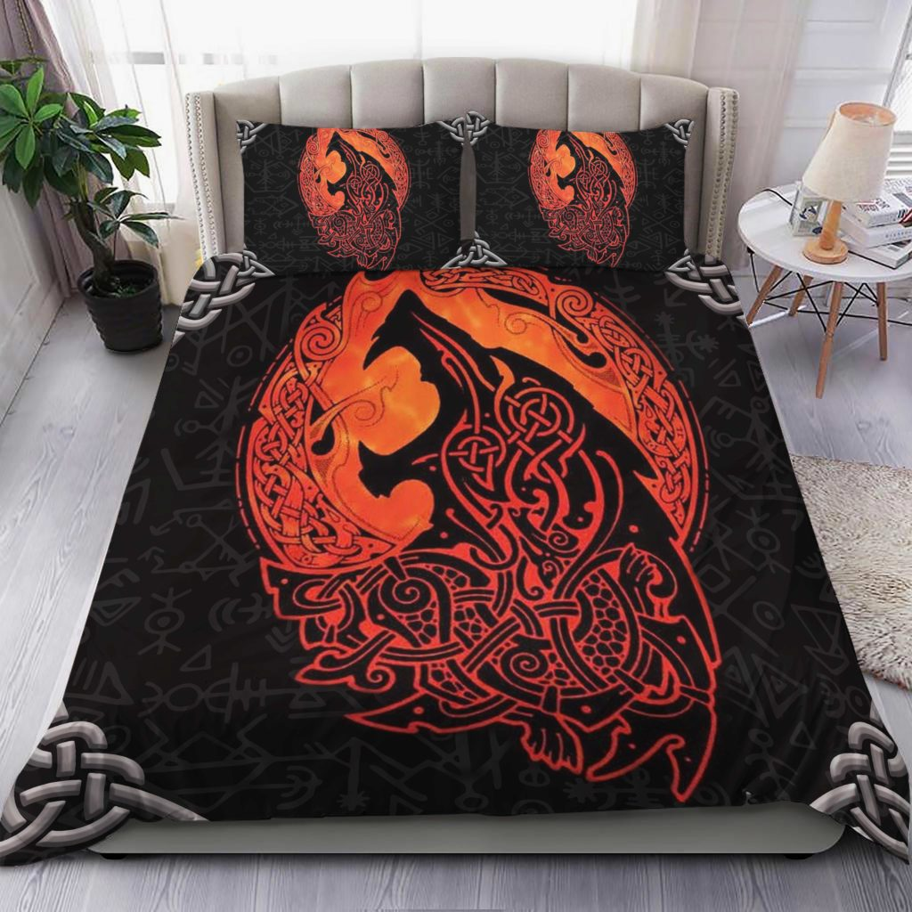Wolf Viking Bedding Set Familyloves.com