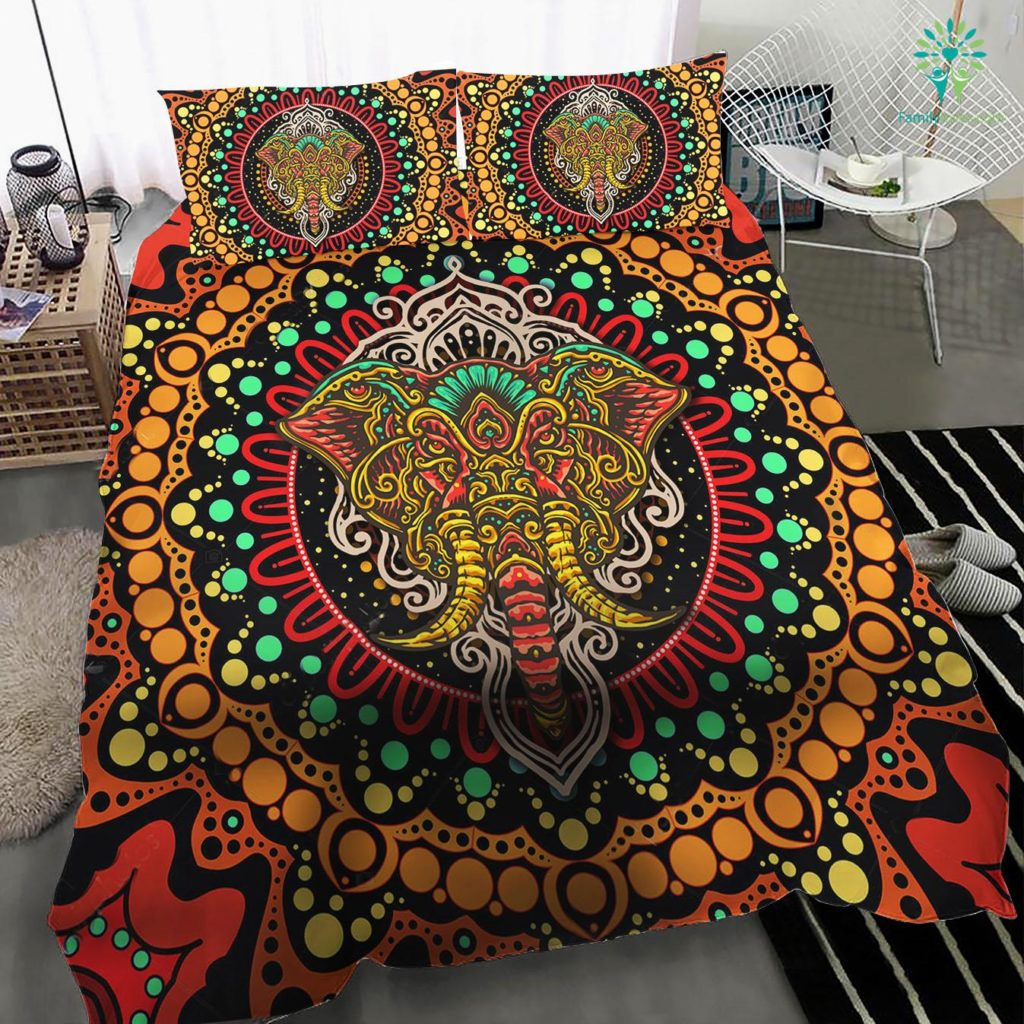 Indian Elephant Bedding Set Familyloves.com