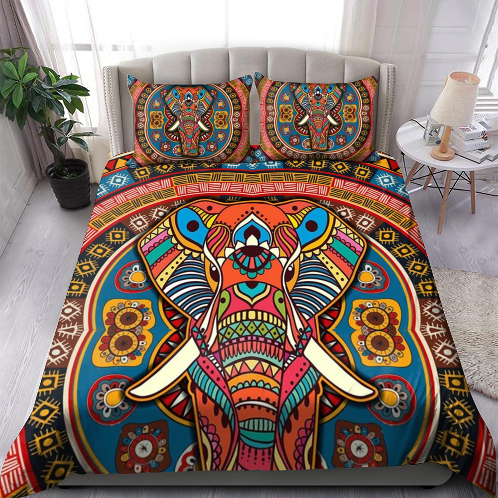 Elephant Tribe Bedding Set Familyloves.com