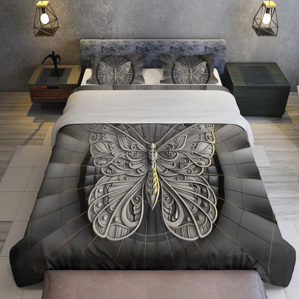 Butterfly Sculpture Bedding Set Familyloves.com