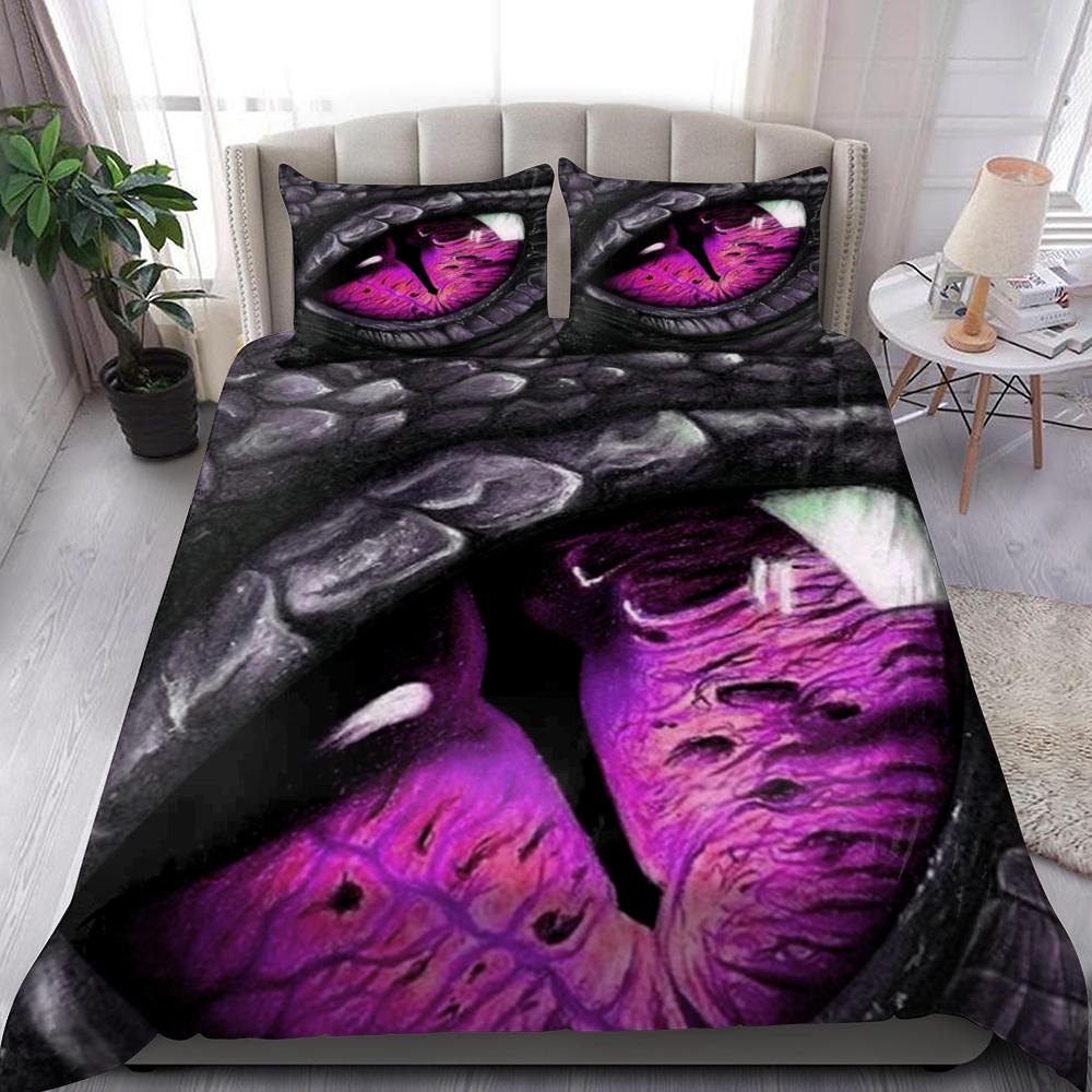 Purple Dragon Eye Quilt Bedding Set Familyloves.com