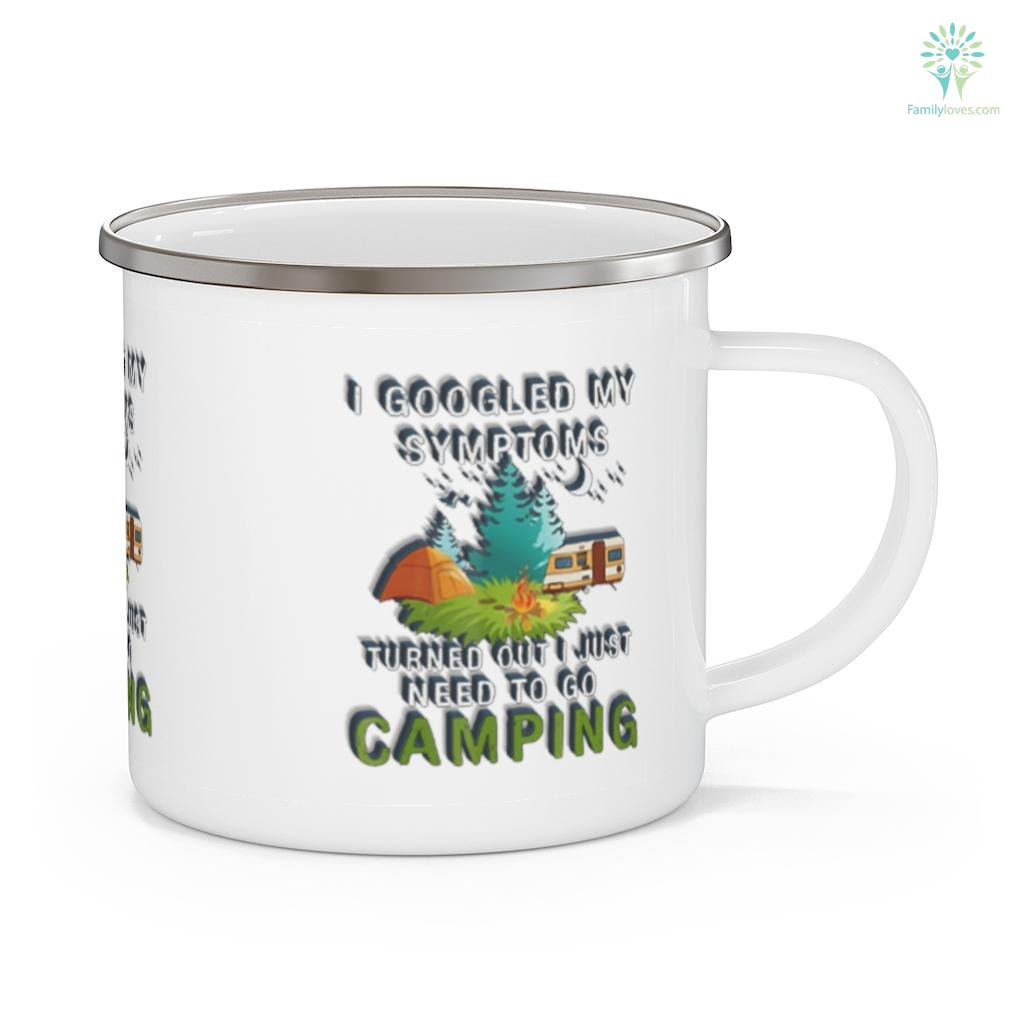 I googled my symptoms turn out I just need to go to camping Camping Mug Familyloves.com