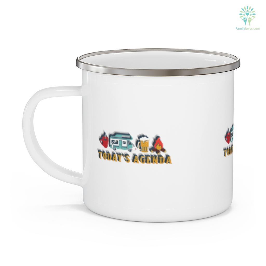 Mens RV Camping Lover Agenda Camping Mug Familyloves.com