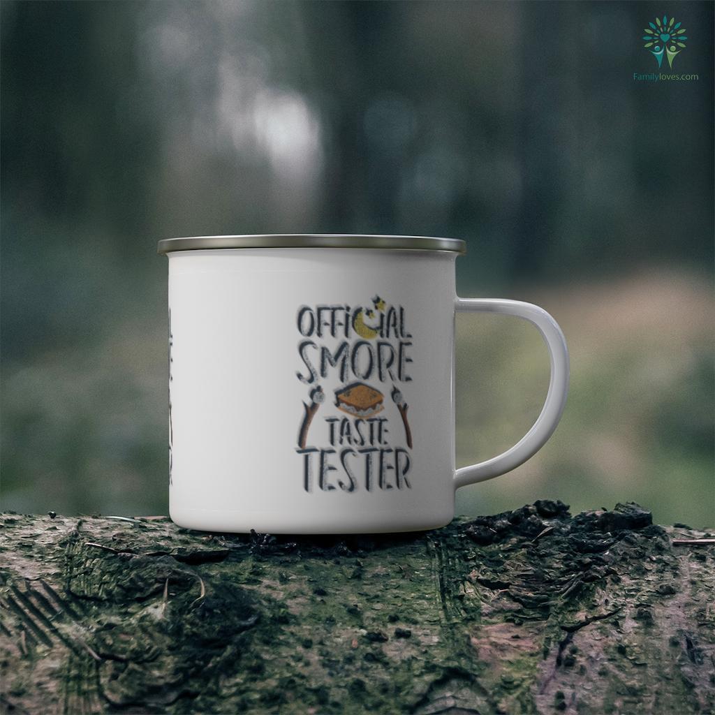 Official S'more Tester Campfire Camping Distressed Camping Mug Familyloves.com
