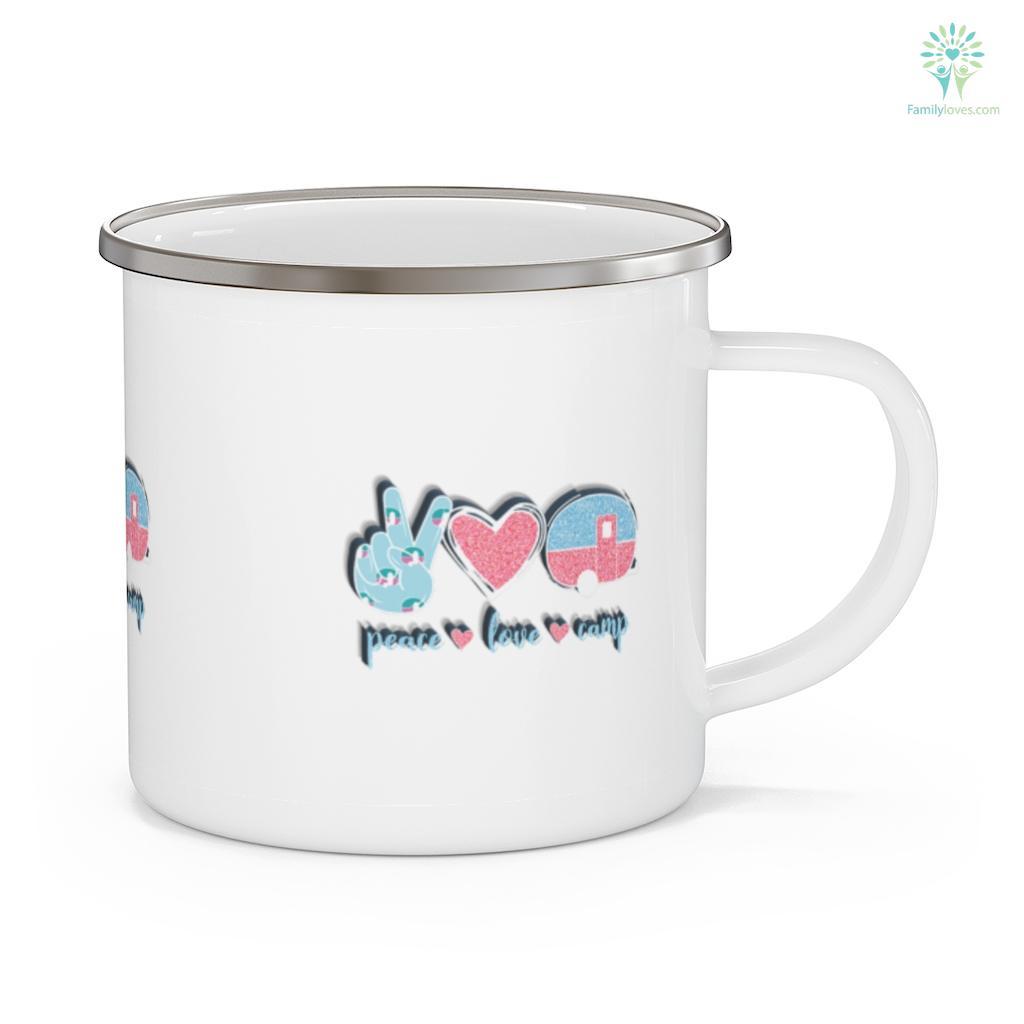 Peace Love Camp Cute Camping Lover Camping Mug Familyloves.com