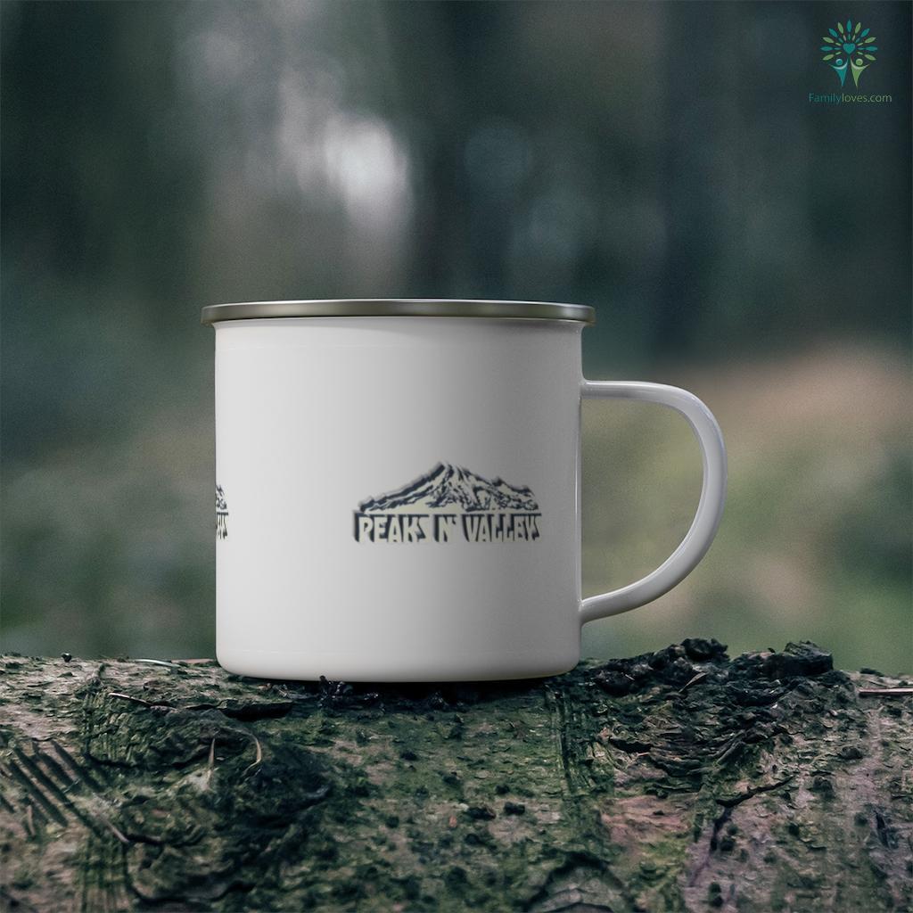 Peaks N' Valleys Mt. Rainier Hiking Novelty Camping Gift Camping Mug Familyloves.com