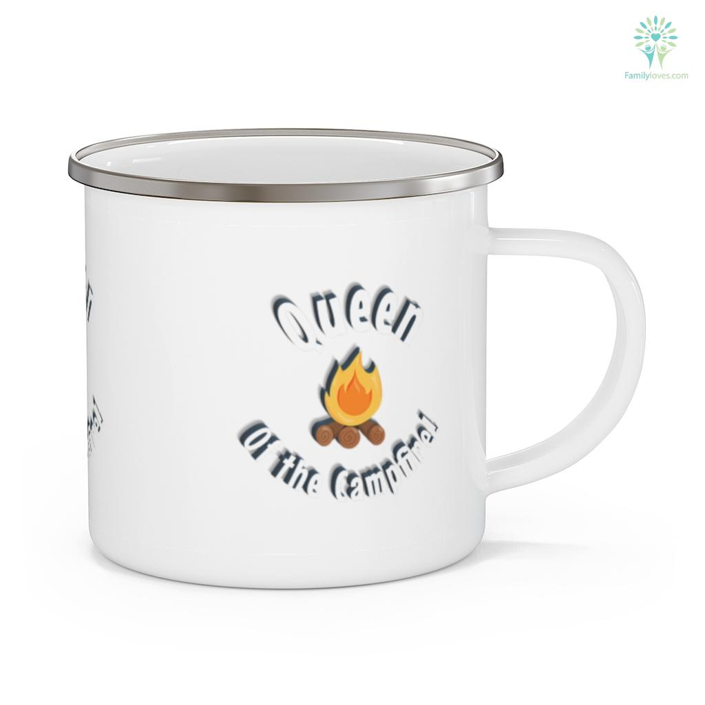 Queen of the Campfire Funny Camping Tenting Hunting Camping Mug Familyloves.com