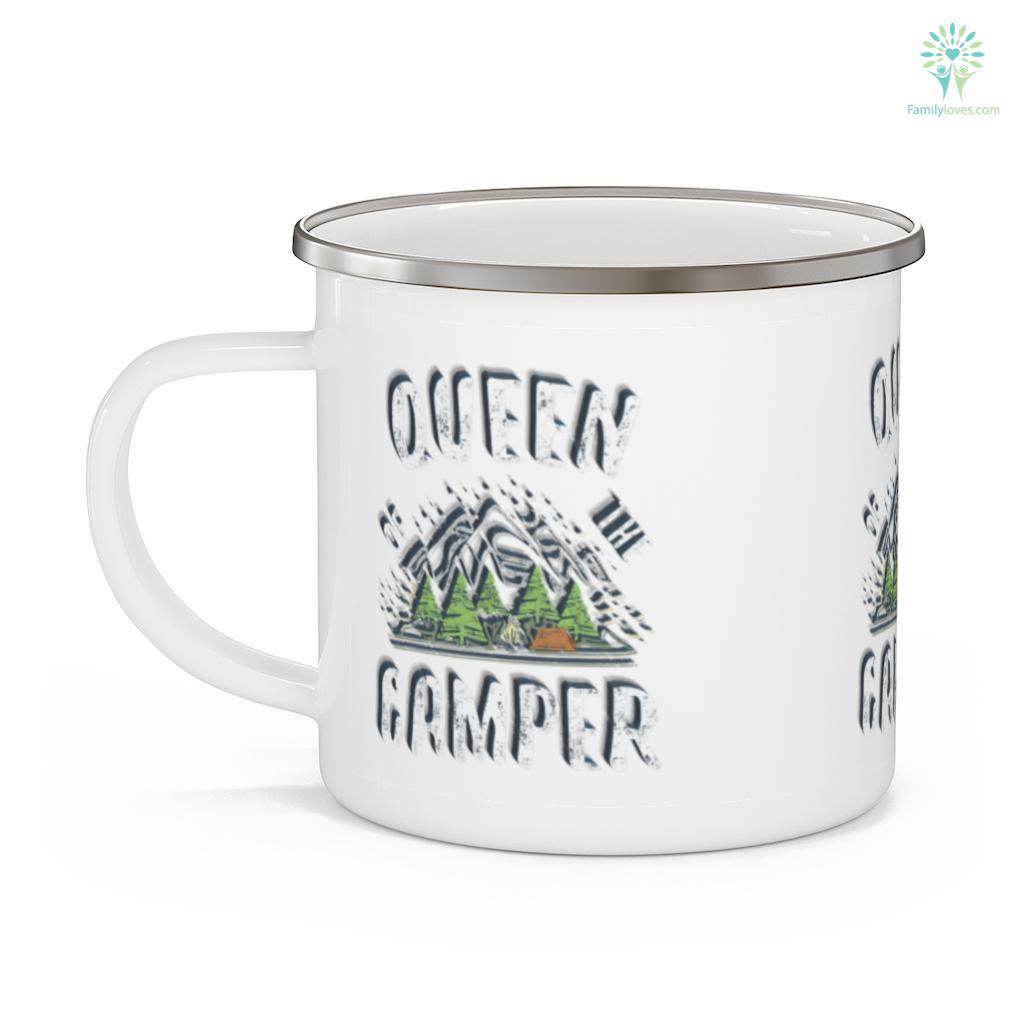 Queen Of The Camper Camping Gift Camping Mug Familyloves.com