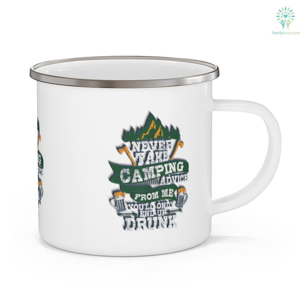 Retro Camping And Drinking Camping Mug Familyloves.com