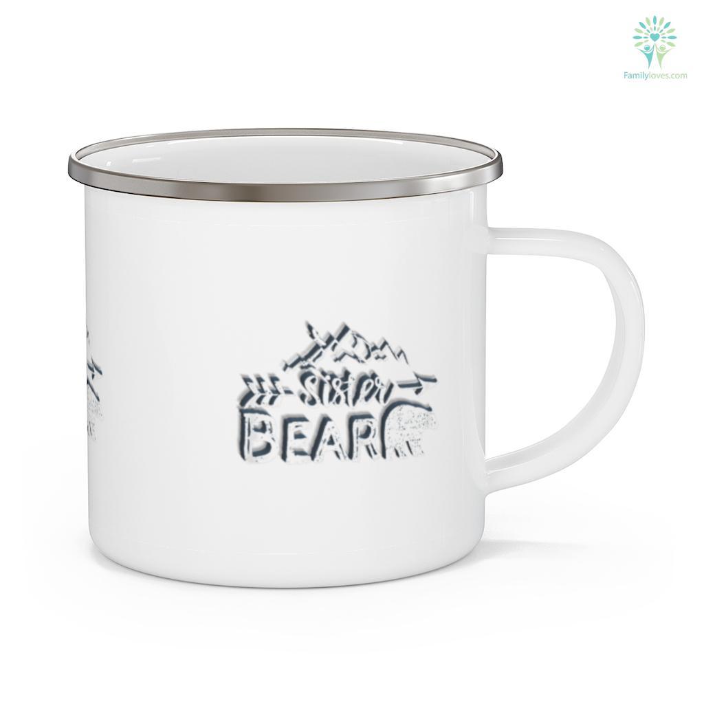 Sister Bear Matching Family Siblings Camping Gift Camping Mug Familyloves.com