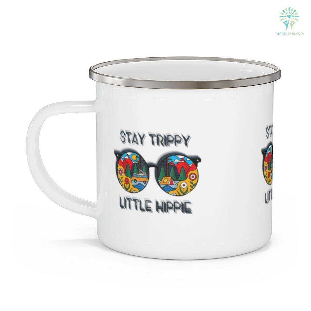 Stay Trippy Little Hippie Glasses Hippie Camping Mug Familyloves.com