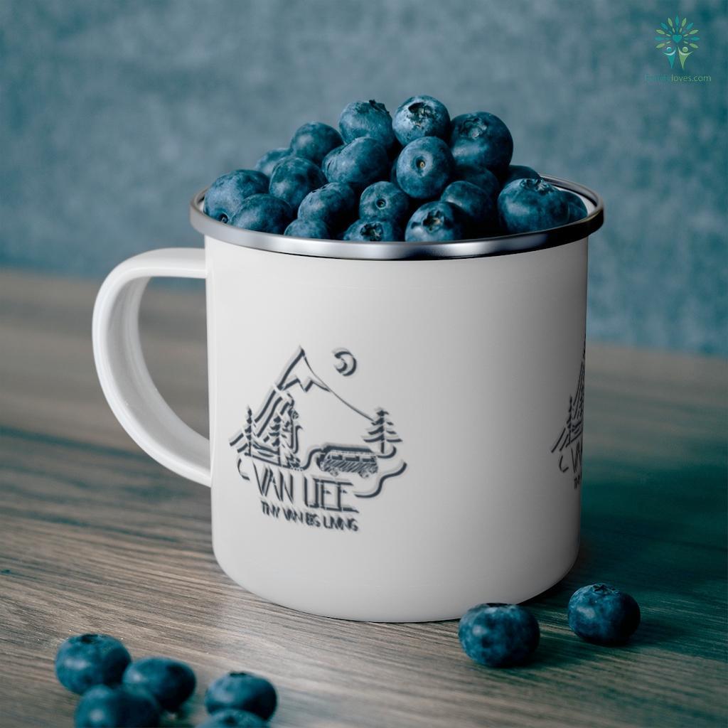 Van life, Camping Love, Nature - Tiny Van big Living Camping Mug Familyloves.com