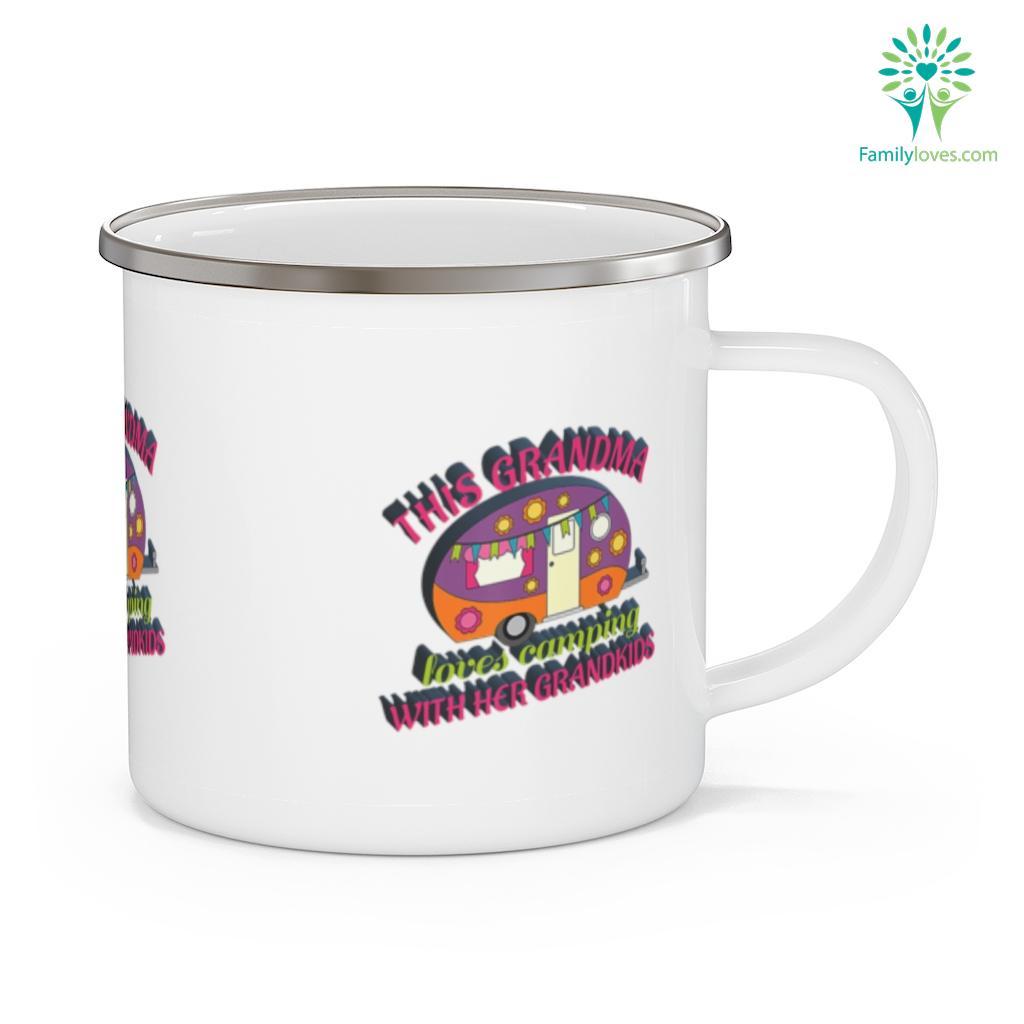 Camping Grandma Shirt with Camper Gift Idea Camping Mug Familyloves.com