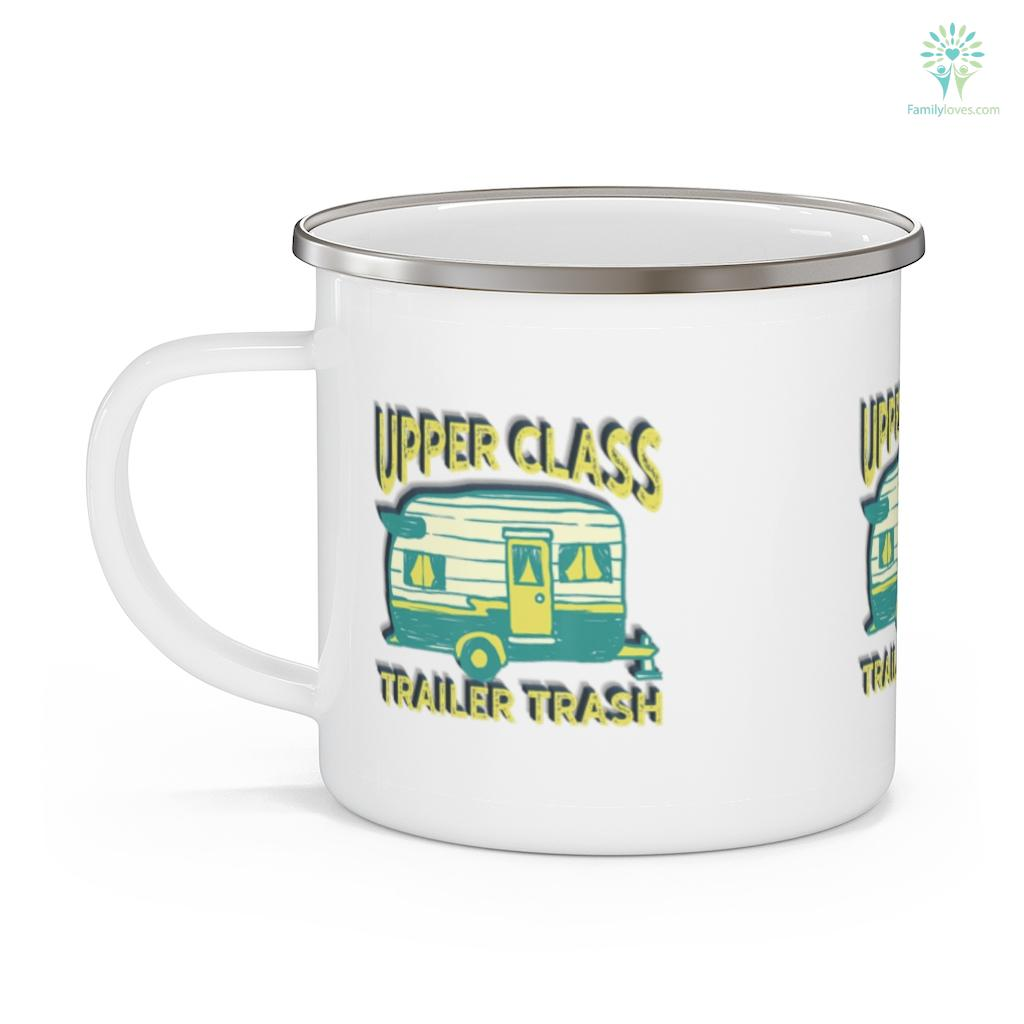 Upper Class Trailer Trash RV Camping Gift T Camping Mug Familyloves.com
