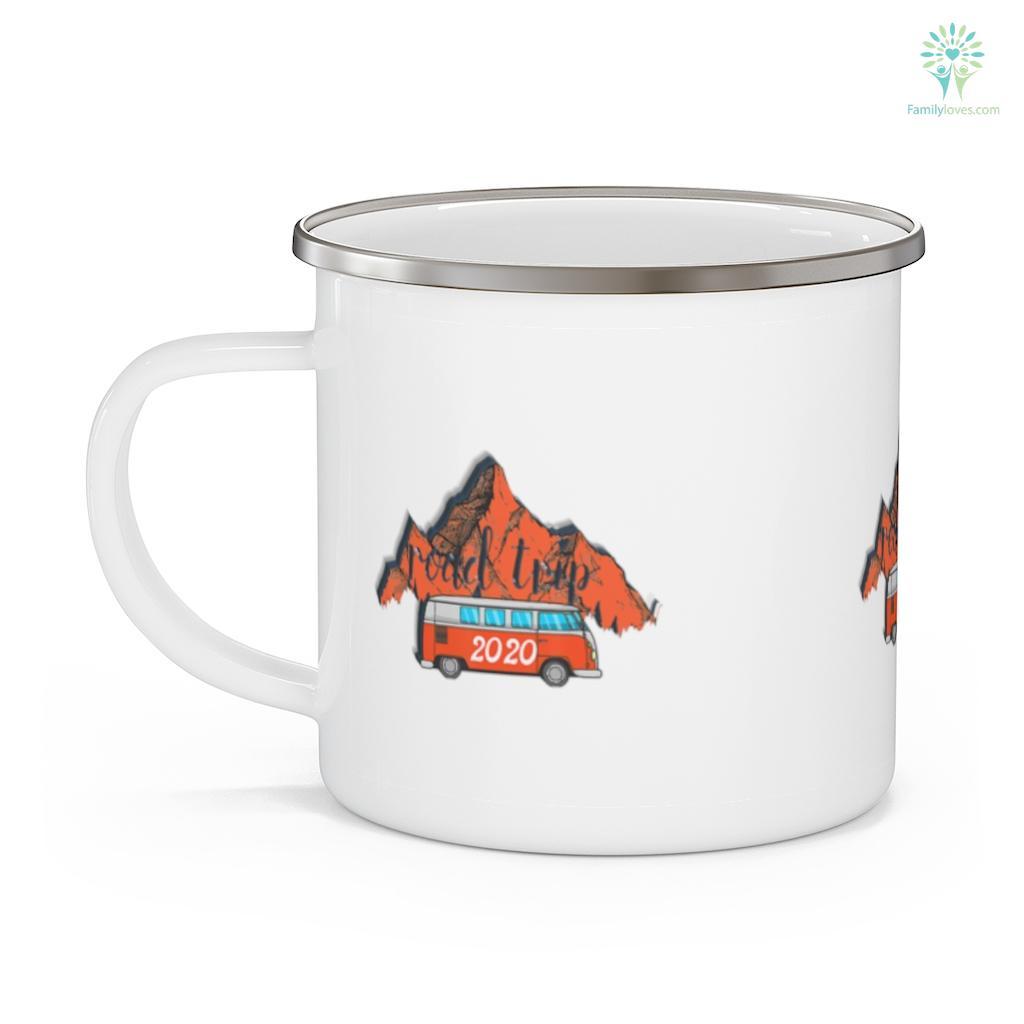 Vintage Road Trip 2020 Family Vacation Tee Camping Gifts Camping Mug Familyloves.com