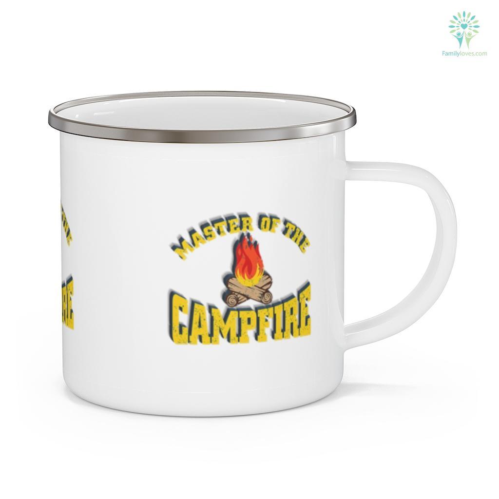 Master of the Campfire Camping Vintage Camper 2 Camping Mug Familyloves.com
