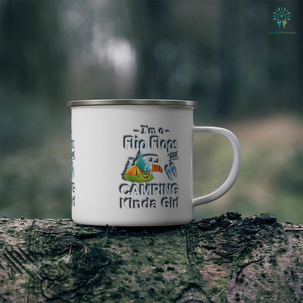 Womens I'm A Flip Flops & Camping Kinda Girl Funny Camping Lover 2 Camping Mug Familyloves.com