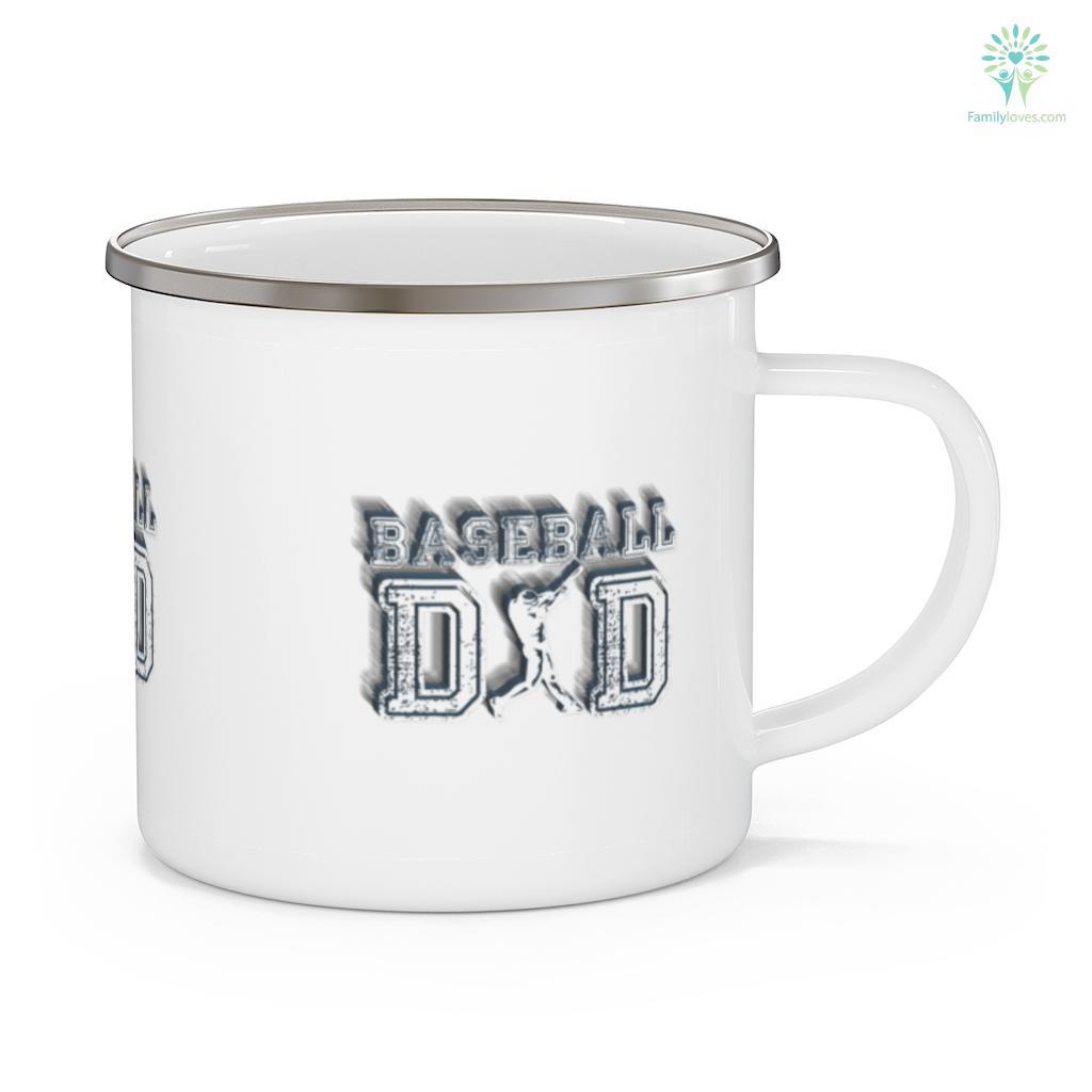 Baseball Dad For Daddy Papa Father's Day Mug Familyloves.com