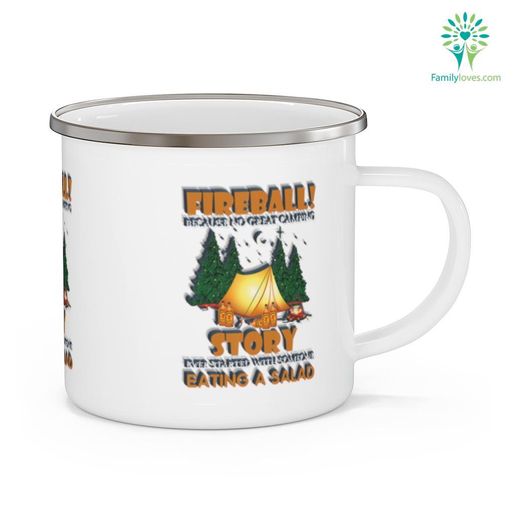 Camping Lover - Camping Fireball Camping Mug Familyloves.com