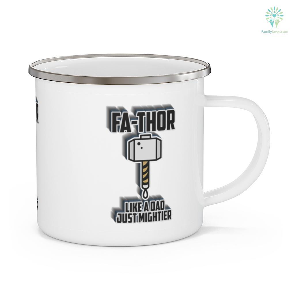 Fa-Thor Like a Dad just Mightier Father's Day Mug Familyloves.com