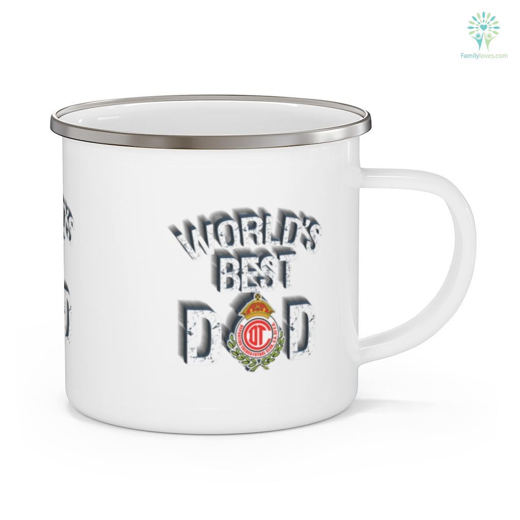 FC Toluca Mexico World's Best Dad Father's Day Mug Familyloves.com