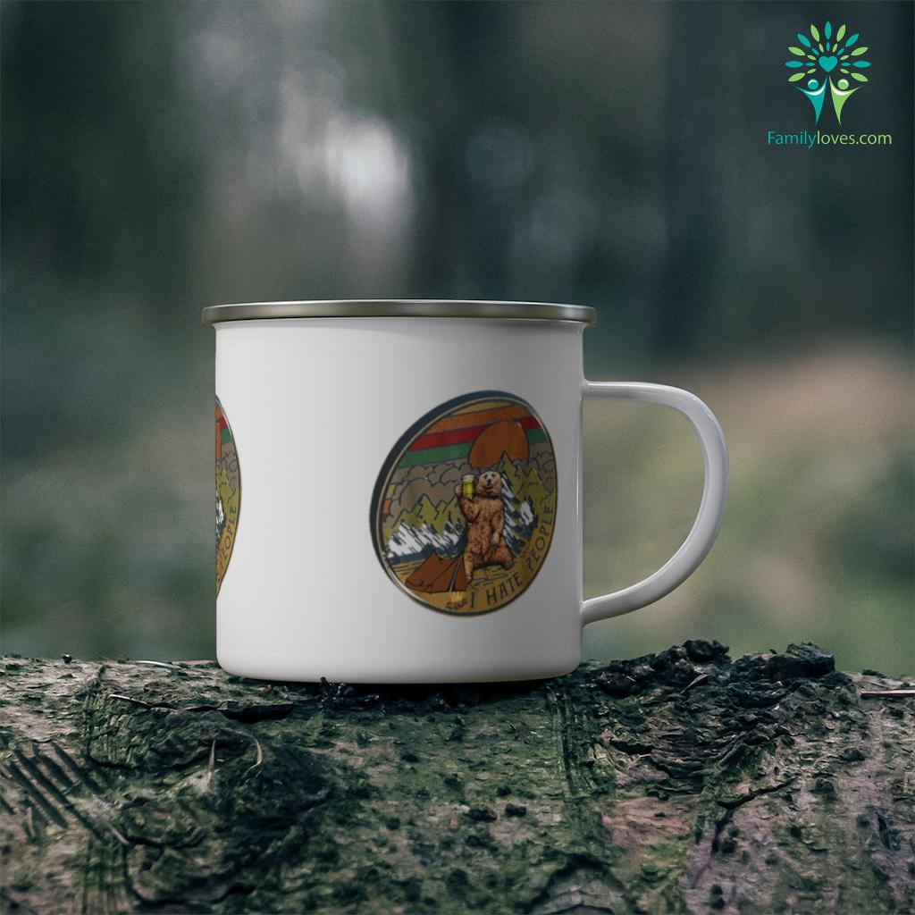 Bear Camping I Hate People Camping Mug Familyloves.com