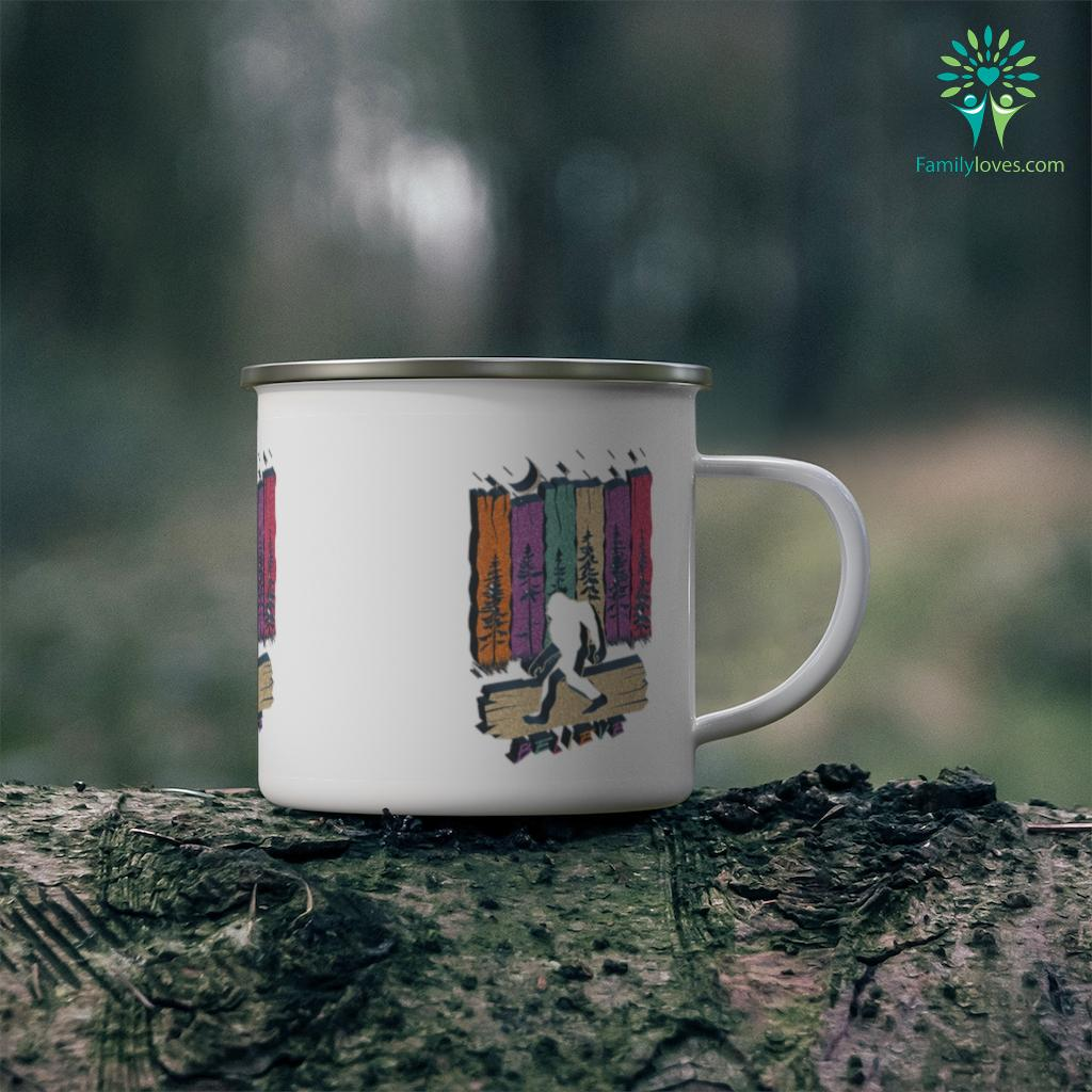 Bigfoot Believe Shirt Sasquatch Hiking Camping Funny Gift Camping Mug Familyloves.com