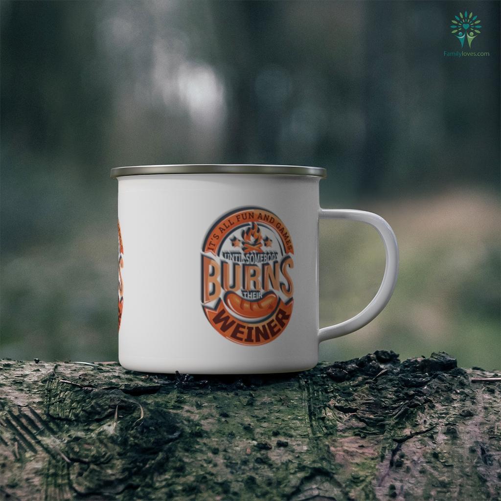 Funny Camping Fire Burns Weiner Family Camp Camping Mug Familyloves.com