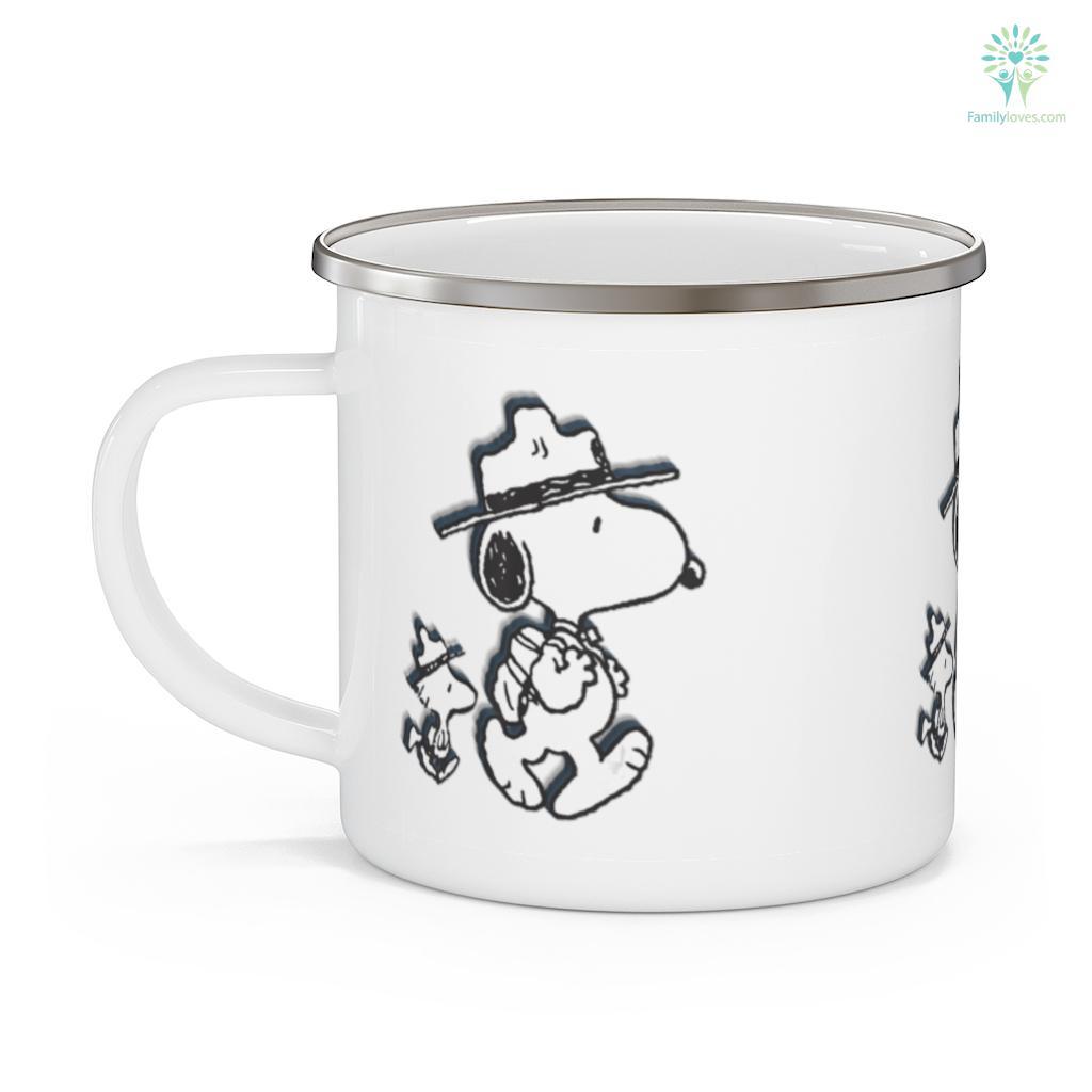 Funny Snoopy Woodstock Camping Mug Familyloves.com