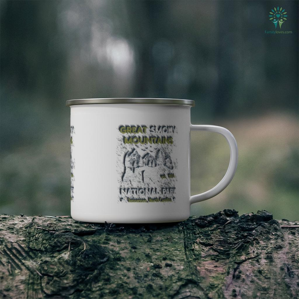 Great Smoky Mountains US National Park Camping Hiking Tee Camping Mug Familyloves.com