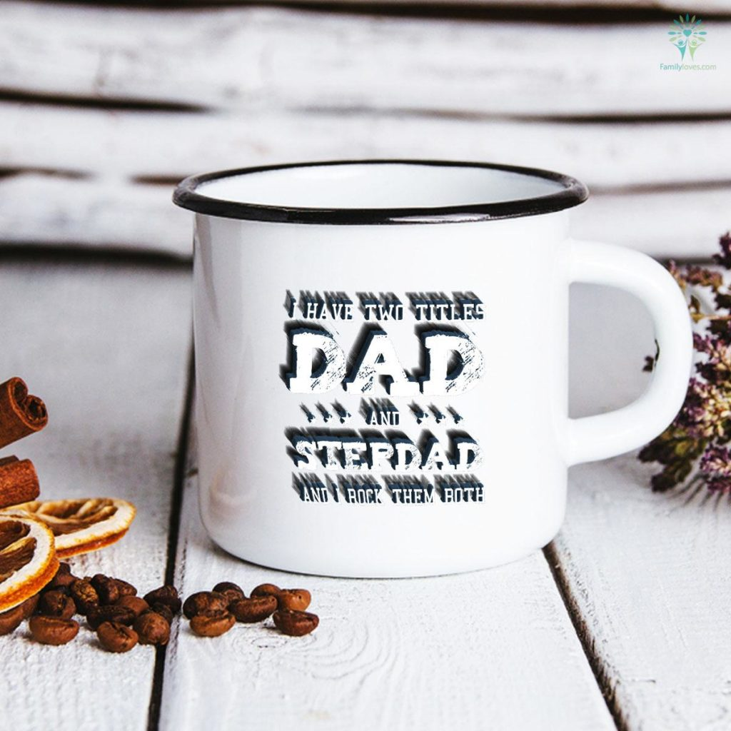 Best Dad and Stepdad Cute Fathers Day Gift from Wife Father's Day Mug Familyloves.com