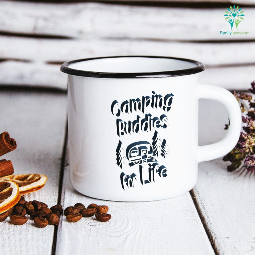 Camping Buddies for Life, Camping Buddy, Camping Lovers Gift Camping Mug Familyloves.com