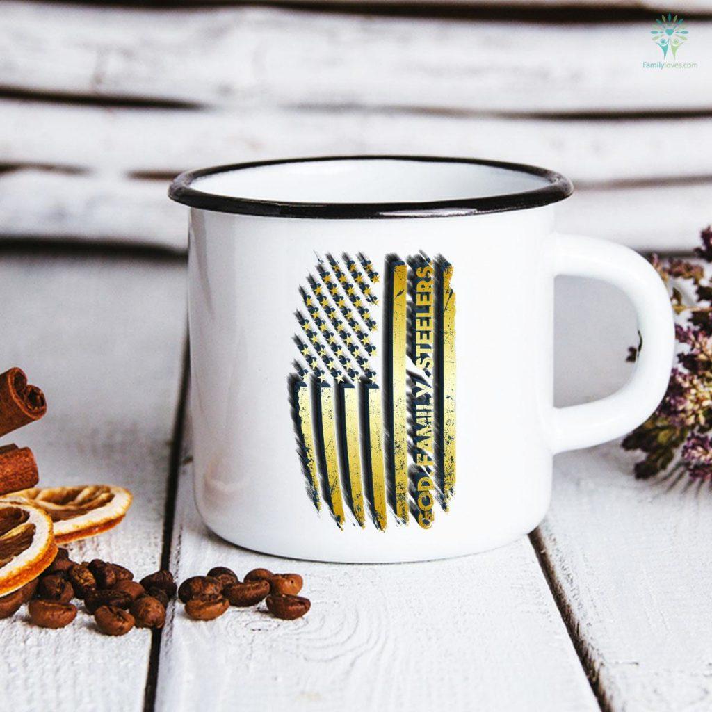 God Family Steelers Pro Us Flag Father's Day Mug Familyloves.com