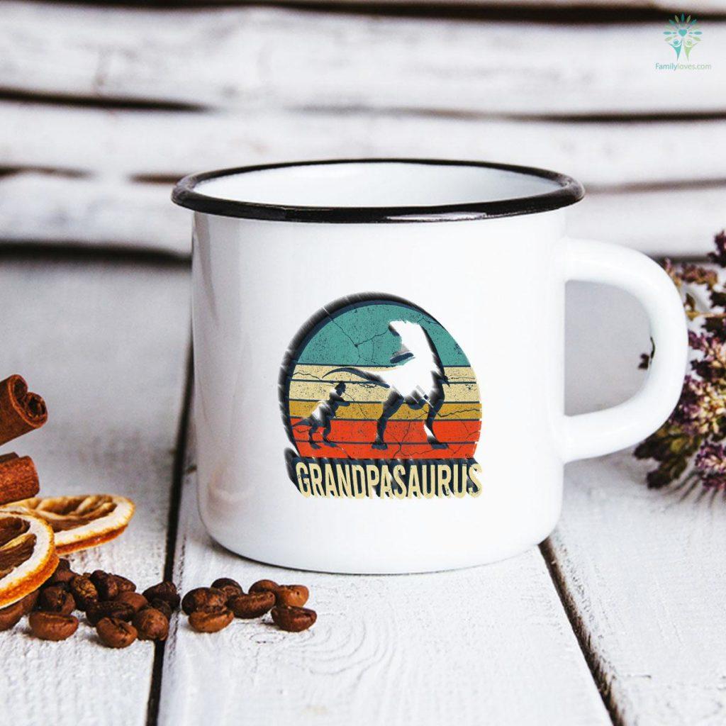 Grandpa dinosaur 1 Grandson Men christmas Father's Day Mug Familyloves.com