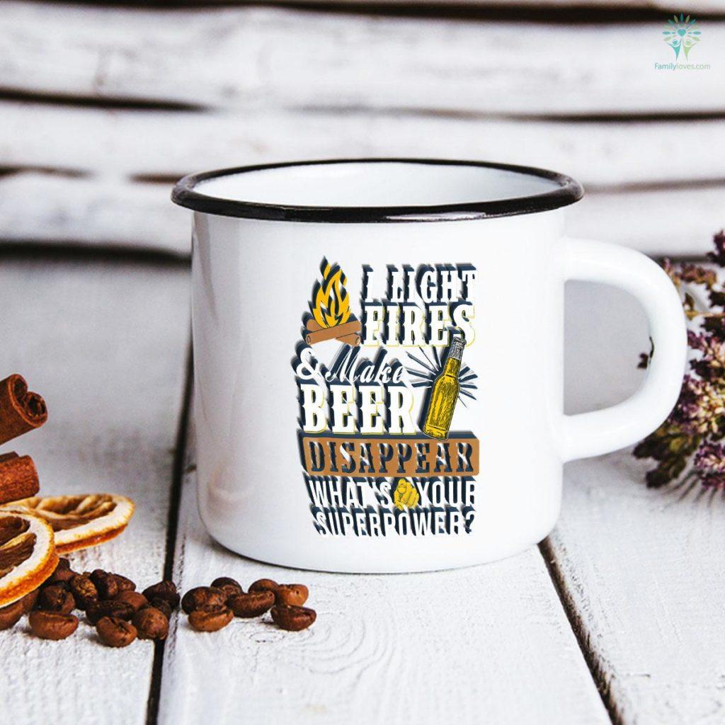 I Light Fires & Make Beer Disappear Funny Camping Mug Familyloves.com