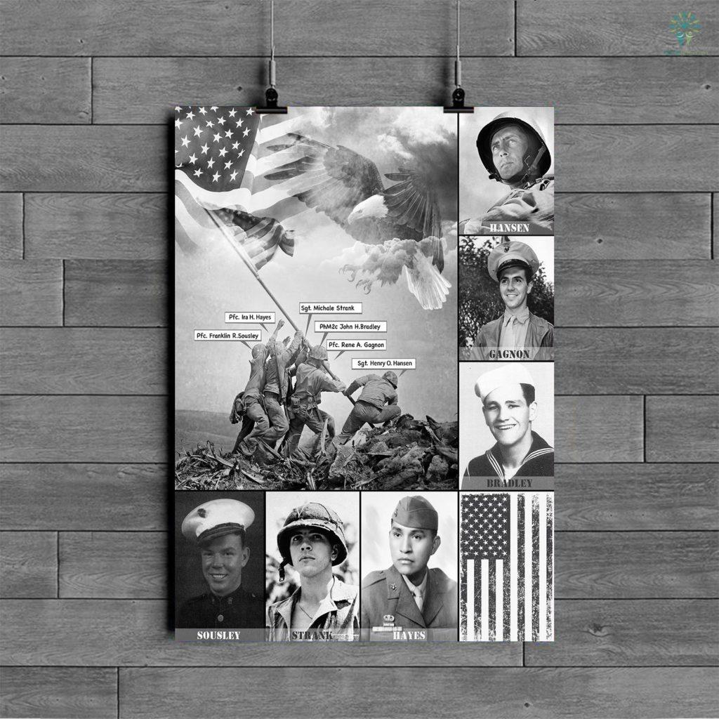 Raising The Flag On Iwo Jima Posters Familyloves.com