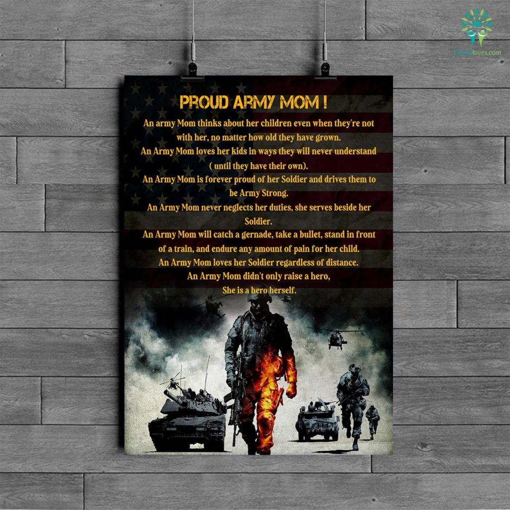 Proud Army Mom An Army Mom Thinks About Her Children Posters Familyloves.com