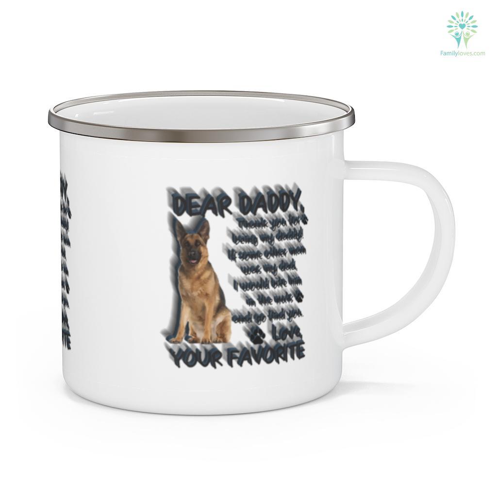 Pet dog German Shepherd lovers Father's Day Mug Familyloves.com