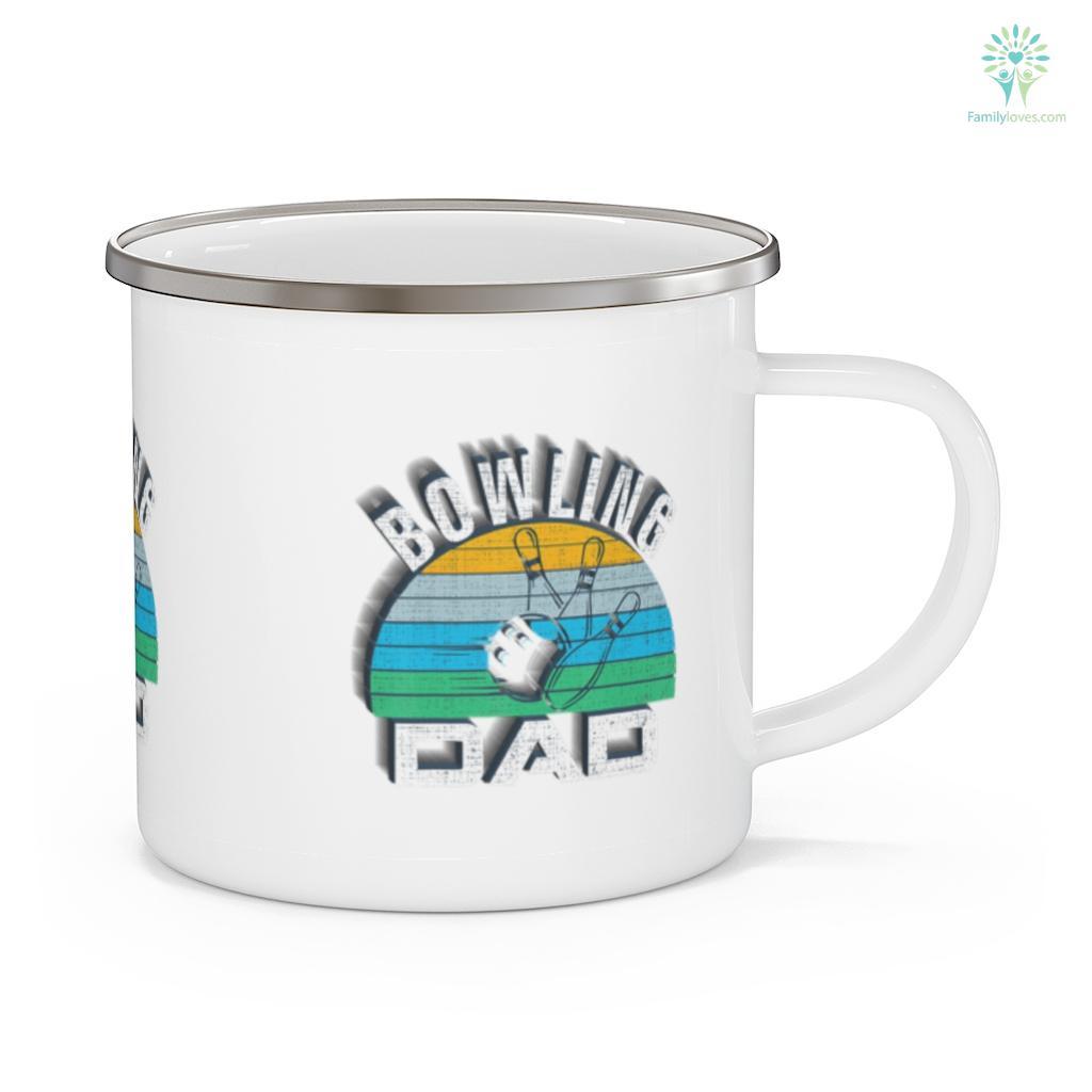 Retro Bowling Dad Funny BowlerBowl Father's Day Mug Familyloves.com
