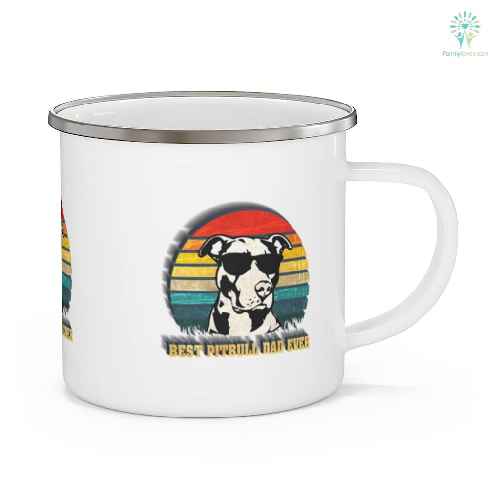 Mens Best Pitbull Dad Ever Pitbull Father's Day Mug Familyloves.com