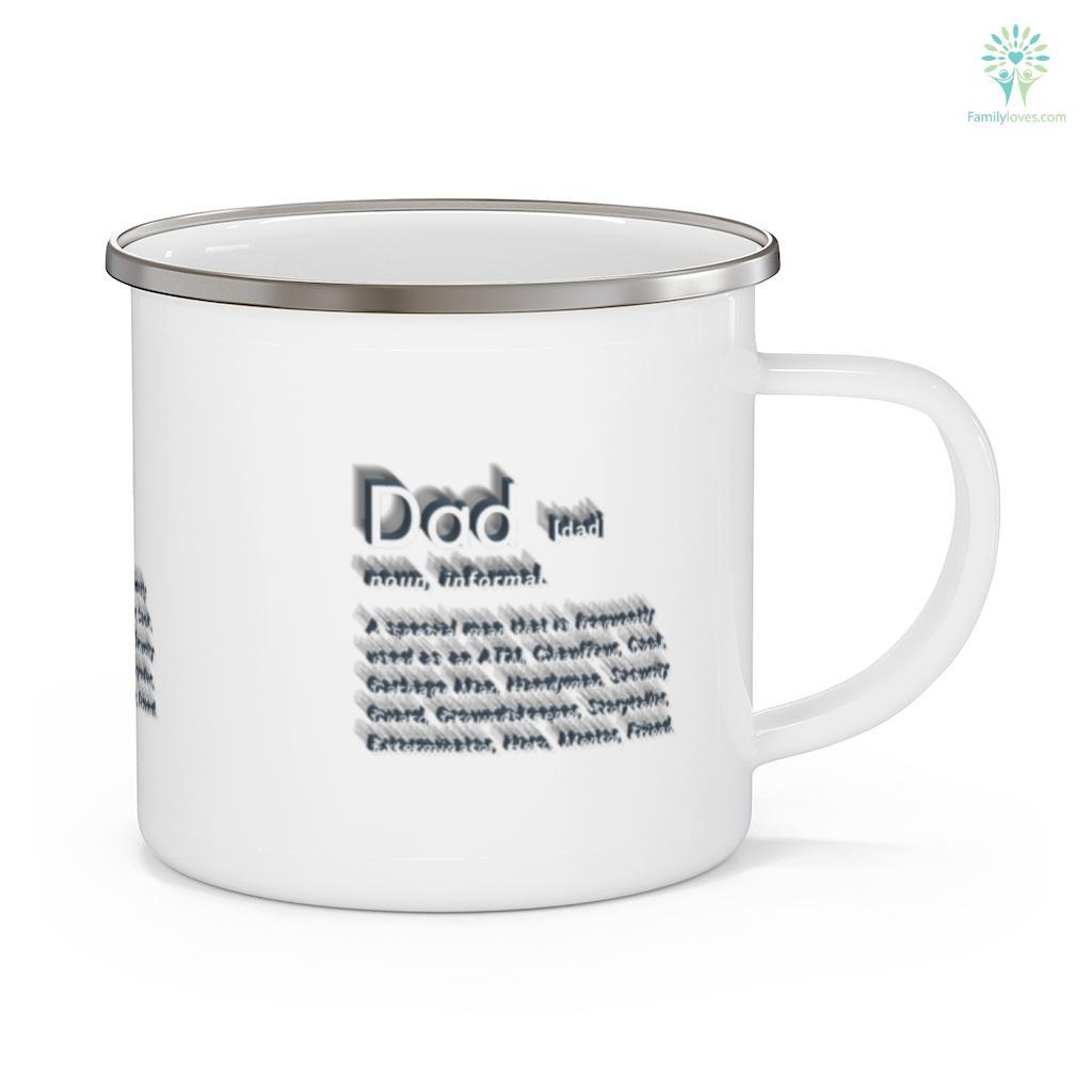 Mens Dad Definition Funny Mens Hilarious Adult Humor Father's Day Mug Familyloves.com
