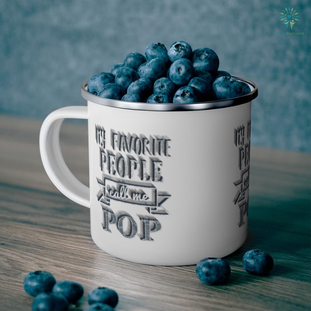 Mens My Favorite People Call Me Pop Father's Day Mug Familyloves.com