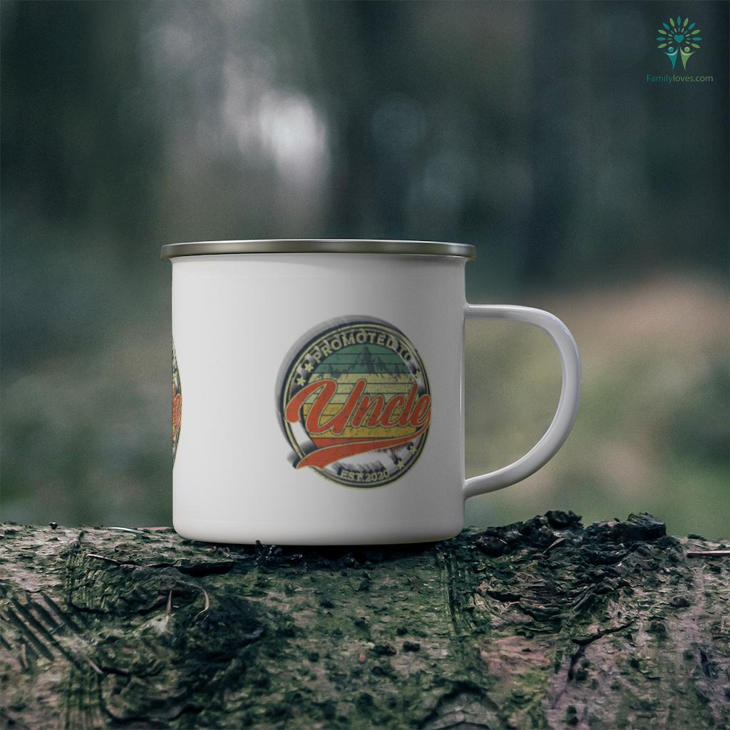 Mens Promoted To Uncle Est 2020 Father's Day Mug Familyloves.com
