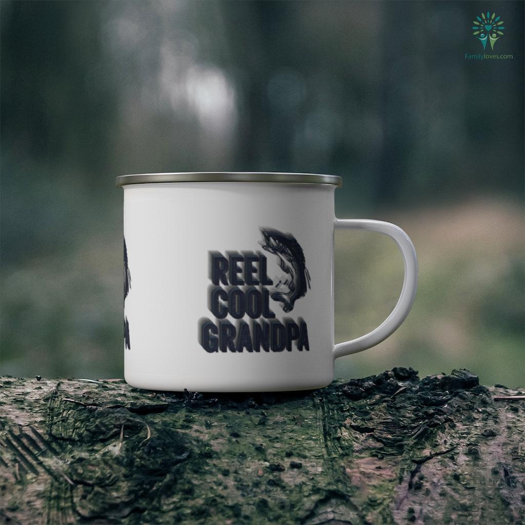 Mens Reel Cool Grandpa Fisherman Father's Day Mug Familyloves.com