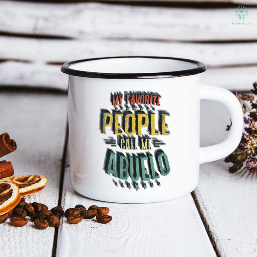 Mens My Favorite People Call Me Abuelo Funny Father's Day Mug Familyloves.com