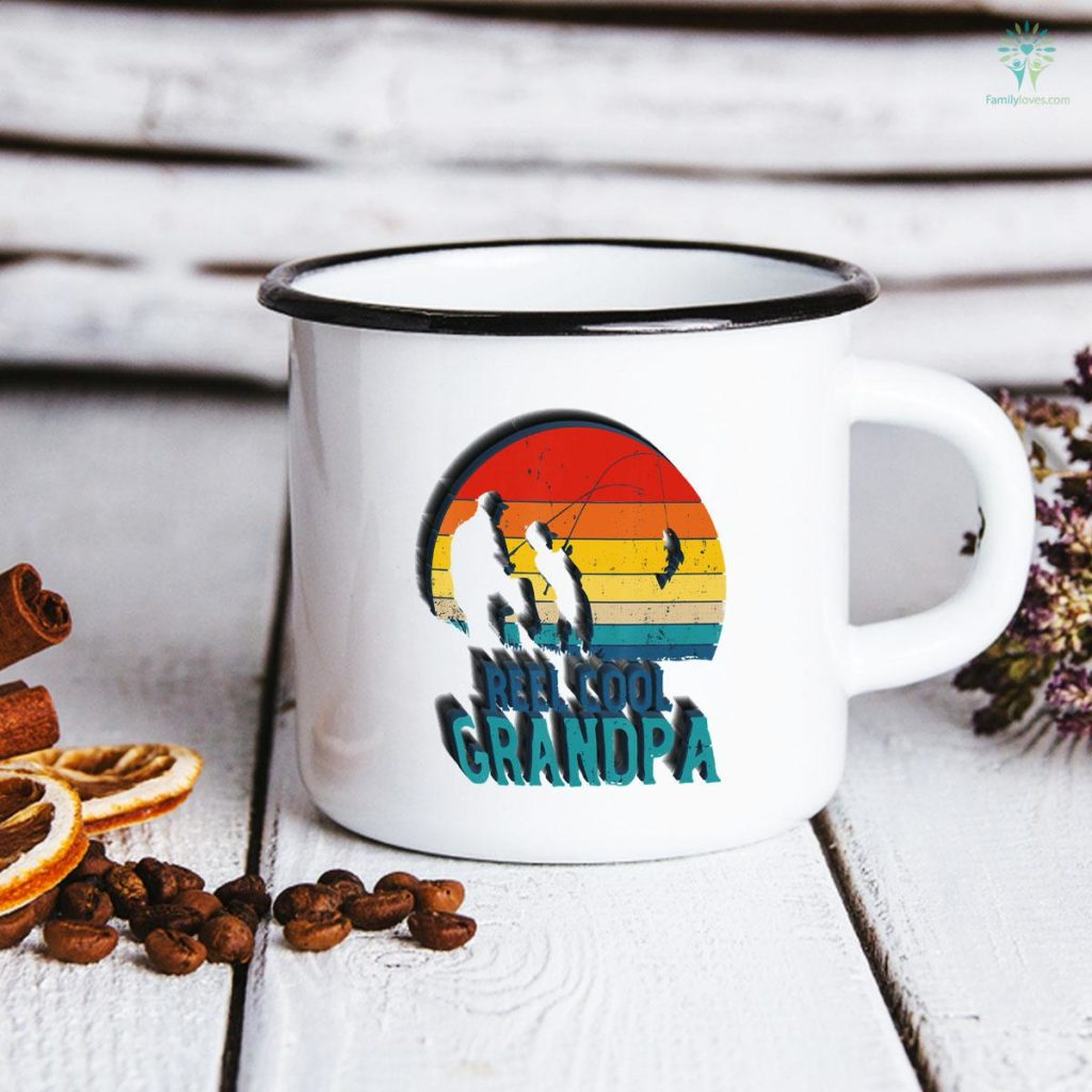 Reel Cool Grandpa Fishing Father's Day Mug Familyloves.com